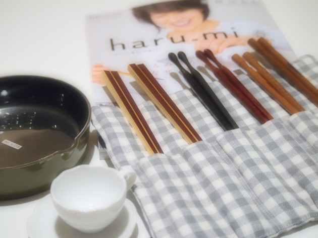 栗原はるみさんお手製の箸入れ。嬉しすぎます!!
